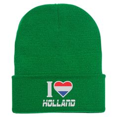 I LOVE HOLLAND Embroidered Knit Cap
