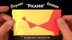 Tutorial for my Picasso Envelope, a modular envelope that changes pattern as the left and right sides are pulled apart. I named it Picasso Envelope b. Origami Envelope, Origami Heart, Letter Folding, Paper Folding, Crafts To Do, Paper Crafts, Envelope Tutorial, Useful Origami, Easy Origami