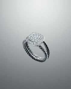 Petite Albion Ring with Diamonds by David Yurman at Neiman Marcus.    Want this