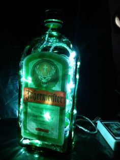 Jagermeister Bottle Light Lamp with 30 white by AfterGlowsByStacey, £20.00