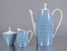 like this...Mid Century Porcelain Coffee Service 2025 by Arzberg. German Modernist, Color Kolor Dekor,