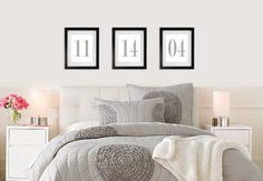 Anniversary Dates - Wedding - Master Bedroom - Marriage - Print It Yourself JPG - PIY on Etsy, $9.95