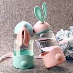 Buy Cute Rabbit Glass Cup Outdoor Sports Travel Water Bottle Leak-proof Portable Trendy Students Water Bottle Promotion at Wish - Shopping Made Fun Travel Water Bottle, Drinking Water Bottle, Cute Water Bottles, Glass Water Bottle, Drink Bottles, School Water Bottles, Bottle Bottle, Baby Bottle, Plastic Bottle