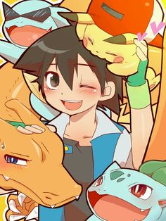 Ash and the original team :D the original pokemon will forever be my favorite childhood cartoon! :D