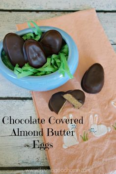 Chocolate Covered Almond Butter Eggs (Paleo, Vegan Option) | This is so good...