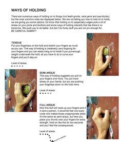 Ways of holding grips climbing ~ Greepbelasting klimmen