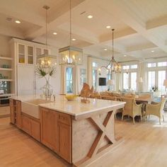 Love the kitchen island