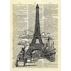 Eiffel tower paris dictionary art print (28 AUD) ❤ liked on Polyvore featuring home, home decor, wall art, backgrounds, borders, picture frame, eiffel tower wall art, iron home decor, iron wall art and parisian home decor