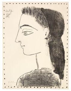 Jacqueline au mouchoir noir ~ Picasso