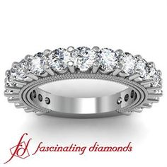 Round Prong Set Diamond Anniversary Band