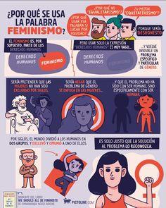 """Por qué es preferible usar la palabra """"feminismo"""" a otras? @pictoline #feminismo"""