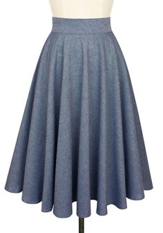 The Trashy Diva Circle Skirt in Blue Chambray can easily be dressed up or down!