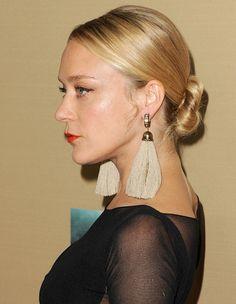 chloe sevigny - tassel paintbrush earrings