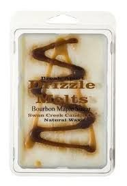 Scent your home with the inviting fragrance of the Swan Creek Candle Company® Drizzle Melts Bourbon Maple Sugar Scented Melting Wax. This block of long-lasting scented wax has the look of old-fashioned layered candy, but warms and melts to fill your room with a fabulous scent. The 100% natural soybean and beeswax blend is designed for use with wax-melting warmers, and breaks apart for convenient use.