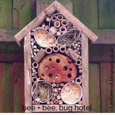 Larabee: |CREATE|bee + bee, bug hotel