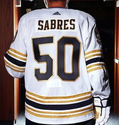 The jersey will be on display outside the Sabres Store throughout Fan Fest on Saturday, August 17 and is available for presale orders now at The Sabres Store. It will be available for purchase at The Sabres Store on September Nhl Jerseys, Hockey Teams, Ice Hockey, Navy Uniforms, Royal Blue And Gold, Buffalo Sabres, Philadelphia Flyers, National Hockey League, My Favorite Part