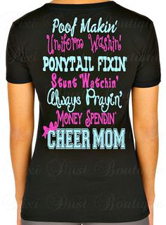 Cheer Shirt Cheerleading T-Shirt Cheer Mom by Pixidustboutique