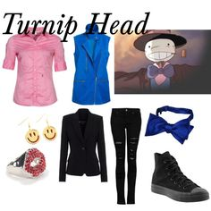 Turnip Head - Howl's Moving Castle by animedowntherunway on Polyvore featuring Seidensticker, Theyskens' Theory, Mural, MANGO, Forzieri, Converse, Ghibli, women's clothing, women's fashion and women
