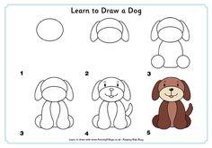 Paso a paso de como dibujar a un perrito