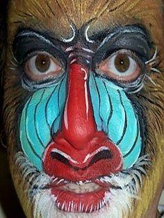 Face Painting Rafiki a Mandrill Baboon on Pinterest | Lion King ...