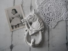 horse hook farmhouse decor kitchen hook bathroom by ShabbyRoad