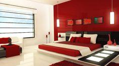 decoração para quarto de casal - Vermelho - Red Decor Room