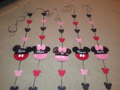 Personalized streamers to hang in our resort window...created with my silhouette cameo.