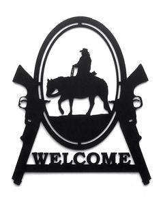 Check out Welcome Cowboy and Pistol Custom Metal Sign on rillabee Cowboy Theme, Cowboy Art, Navara D40, Free Adult Coloring, Scroll Saw Patterns, Art Patterns, Custom Metal Signs, Wood Burning Patterns, Pintura Country
