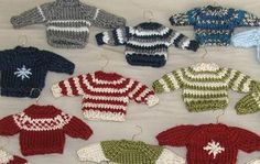 "Christmas sweater ornaments-NEED IDEAS FOR A FUN UGLY CHRISTMAS SWEATER PARTY check out ""THE HOW TO PARTY IN UGLY CHRISTMAS SWEATER BOOK"" at Amazon.com-"