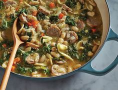 Recipe Stew Hearty Sausage Kale Bean 780x596