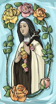 St. Therese of Lisieux Prayer Card by TheSocietyofSaints on Etsy