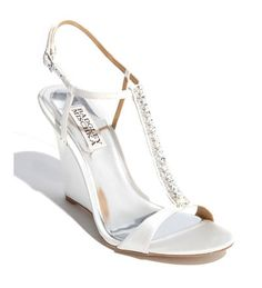 White bling bling wedges