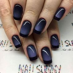 Love,love this ombre with the dark tips.