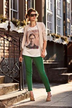 Calça verde - combinações