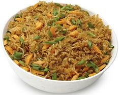 Schezwan Fried Rice A delicious Indo-Chinese dish. Serve hot with raita, ketchup or gravy of choice. Ricearoni Recipes, Curry Recipes, Indian Food Recipes, Gourmet Recipes, Asian Recipes, Vegetarian Recipes, Cooking Recipes, Healthy Recipes, Ethnic Recipes