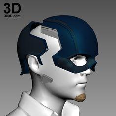 3D Printable Model: Captain America Civil War Helmet V2.0 | File Formats: STL OBJ – Do3D.com Captain America Helmet, Captain America Cosplay, Captain America Civil War, Deathstroke Costume, Warrior Outfit, Marvel Costumes, 3d Printable Models, 3d Prints, File Format
