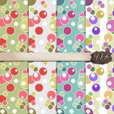 Seamless patterns with polka dots circles от DigitalFuzzyfox