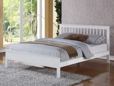 Flintshire Pentre Double White Wooden Bed by Flintshire Furniture White Wooden Single Bed, Wooden Double Bed, Double Beds, King Storage Bed, Ottoman Storage Bed, Linen Storage, Bedroom Furniture Sets, Bed Furniture, Bedroom Ideas