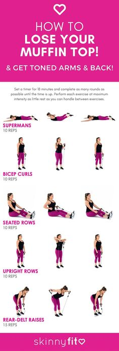 How To Lose Your Muffin Top! (The Best Resistance Band Workout For Arms & Back) … How To Lose Your Muffin Top! (The Best Resistance Band Workout For Arms & Back) How To Lose Your Muffin Top! (The Best Resistance Band Workout For Arms & Back) Resistance Band Arms, Resistance Workout, Resistance Band Exercises, Resistance Band Training, Resistance Bands With Handles, Thera Band Exercises, Elastique Fitness Decathlon, Arm Workout With Bands, Exercises With Bands