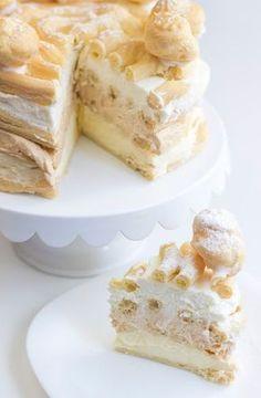 Bez Papriky: Větrníkový dort Small Desserts, Sweet Desserts, Sweet Recipes, Cake Recipes, Food Cakes, Bread Dough Recipe, Czech Recipes, Food Porn, Desert Recipes
