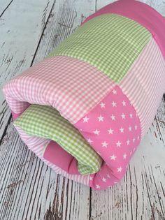 Namenskissen - Patchworkdecke Krabbeldecke  - ein Designerstück von mimo-bambino bei DaWanda