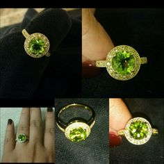925 sterling silver and 18k yellow gold. This breathtaking ring is crafted in solid .925 sterling silver and 18k yellow gold overly. The ring contains 2.26ctw genuine peridot and man-made  white Sapphire.  Total weight for this ring is 2.8 grams. Brand:739182 colore SG by Lorenzo model:slq8347 . 739182 colore SG by Lorenzo  Jewelry Rings
