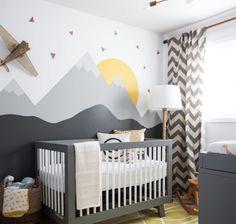 babykamer zwart wit behang - Google Search