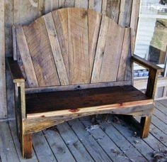 Barnwood bench Perfect for my Kitchen!