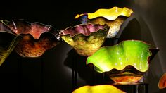 Glass Vessels, VMFA, Chihuly Exhibit IMG_7770  Photograph by Dolores Kelley using a Canon PowerShot S90 camera.  Roy and Dolores Kelley Photographs