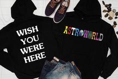 World Album Artist Music Merch Custom Pullover Jacket Coat Wish You Were Here Travis Scott Astroworld, Shirt Store, Hoodies, Sweatshirts, Cool Shirts, Rib Knit, Graphic Sweatshirt, Pullover, Album