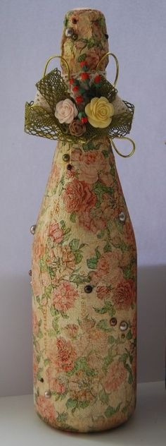 Декупаж - Сайт любителей декупажа - DCPG.RU | декупаж шампанского decoupage art craft handmade home decor  DIY do it yourself