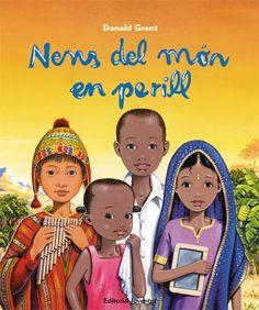 """GRANT, Donald. """"Nens del món en perill"""". Barcelona : Joventut, 2014. Gràcies a aquestes tres històries, descobrim la vida quotidiana de quatre infants de diferents continents. Tots els infants del món tenen dret a la salut, a l'educació, a la igualtat i a la protecció. A la Índia, a l'Àfrica central, als Andes, tres països on s'exemplifiquen les històries. Al final de cada història hi ha informació concreta dels tres països.    A partir de 9 anys.    ISBN 9788426140289"""