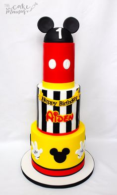 #MickeyMouse #firstbirthdaycake