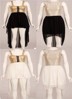 chiffon Gold Baroque Sequin Foil Metallic Dip Hem Hi Lo Dress 8 10 12 14 16